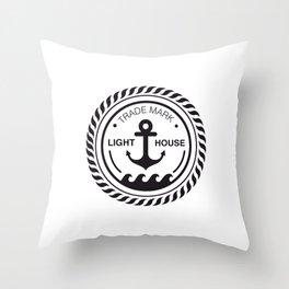 Anchor place Throw Pillow