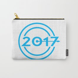 2017 Blue Date Clock Carry-All Pouch