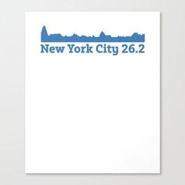 Run New York City Elevation Map 26.2 NYC Canvas Print