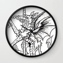 Logres Dragon Wall Clock