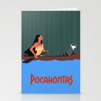 pocahontas Stationery Cards featuring Pocahontas by TheWonderlander
