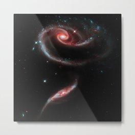 Rose of Galaxies Metal Print