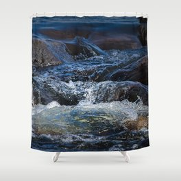 Rocks at Mississippi Headwaters Shower Curtain