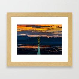Bountiful Sunset - Moroni Statue - Utah Framed Art Print
