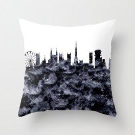 Bristol Skyline Great Britain Throw Pillow