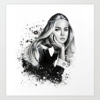 cara Art Prints featuring Cara by NZL Illustrations