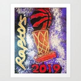 raptors 5,champion,basketball,gold,poster,wall art,2019,winners,NBA,finals,toronto,canada,painting Art Print