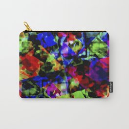 Dark Multicolored Abstract Print Carry-All Pouch