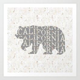 California Bear Print, California Bear Art, California Wall Art, California Art, California Print Art Print