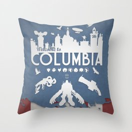 Welcome To Columbia - Bioshock Infinite (Variant) Throw Pillow