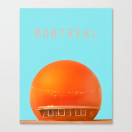 MONTREAL PASTEL Orange Julep Canvas Print