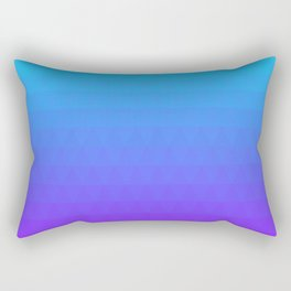 Blue and Purple Ombre Rectangular Pillow