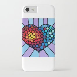 Colorful Heart Love Conquers All iPhone Case