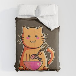 A cat's favourite meal Comforters
