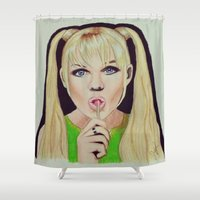 spice Shower Curtains featuring Baby Spice by The Expression Studio