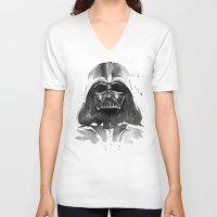 darth vader V-neck T-shirts featuring Darth Vader by Olechka