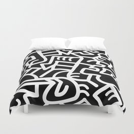 Dazed and Confused at Night Duvet Cover