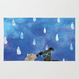 Sighthounds Watercolour Rug