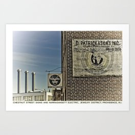 Providence Postcard Project: Chestnut Street Signs & Narragansett Electric, Jewelry District  Art Print