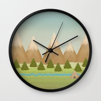 twilight Wall Clocks featuring Twilight by Tammy Kushnir