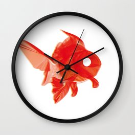 Moirè Goldfish Wall Clock