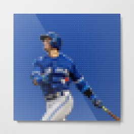 BlueJays - Legobricks Metal Print