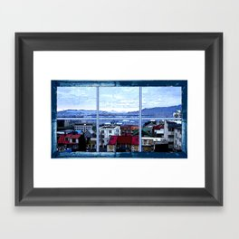 Reykjavik skyline view Framed Art Print
