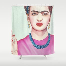 Following Frida Shower Curtain