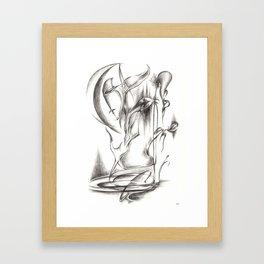New Moon Melody Framed Art Print