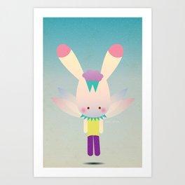 Miss Bunn Art Print