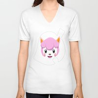 animal crossing V-neck T-shirts featuring Animal Crossing Reese by ZiggyPasta