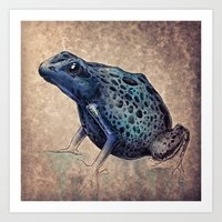 frog Art Prints featuring Frog by Werk of Art