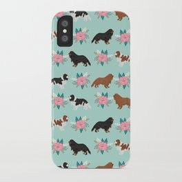 Cavalier King Charles Spaniel florals cute gift for dog lover custom pet portrait pet friendly dog iPhone Case