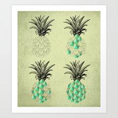 life of a pineapple Art Print