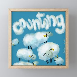 Counting sheep Framed Mini Art Print