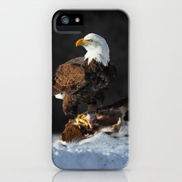 Bald Eagle and Deer iPhone Case