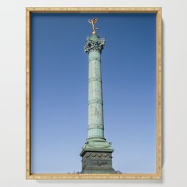 July Column at the Bastille square in Paris Serving Tray