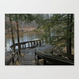 landscape, scenery, river, water, nature,  Canvas Print