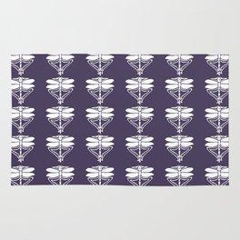 Meteorite Purple Arts and Crafts Dragonflies Rug