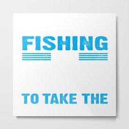 fishing rod tackle poles equipment call gear cast line tea Metal Print