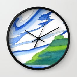 Island Sky Wall Clock