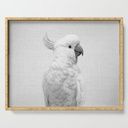 White Cockatoo - Black & White Serving Tray