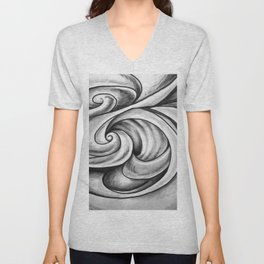 Swirl (Gray) Unisex V-Neck