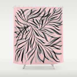 Pink Foliage I Shower Curtain