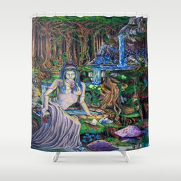The Fountain loss Shower Curtain