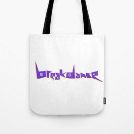 Breakdance Blue Type Tote Bag