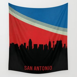 San Antonio Skyline Wall Tapestry