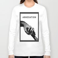 divergent Long Sleeve T-shirts featuring ABNEGATION - DIVERGENT (draw by me) by MarcoMellark