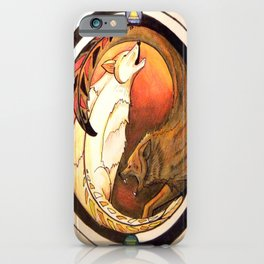 Two Wolves iPhone Case