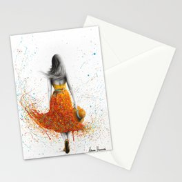 Her Sunset Walk Stationery Cards